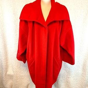 Vintage Wool red stroller coat sz 14